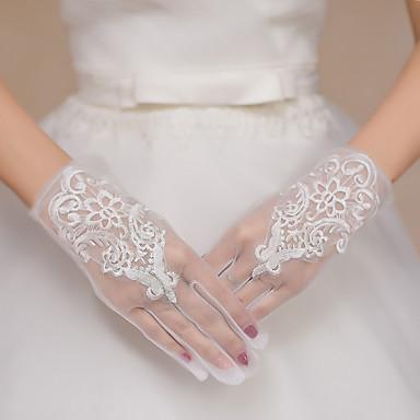 Blonde Tyl Polyester Håndledslængde Handske Brudehandsker Fest-/aftenhandsker