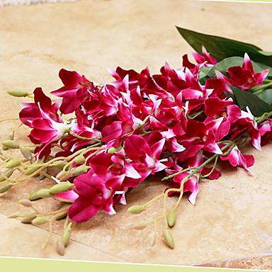 Flores artificiais 1pcs Ramo Estilo Moderno Orquideas Flor de Mesa