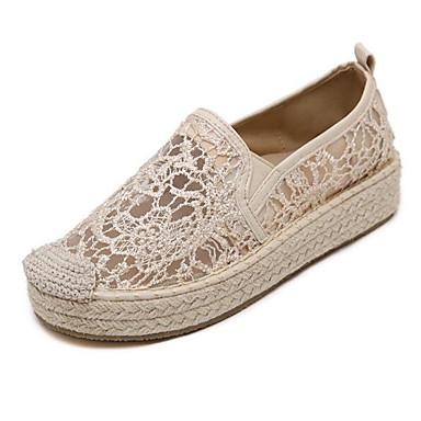 Dame-Kunstlær-Flat hæl-Komfort-一脚蹬鞋、懒人鞋-Friluft-Svart / Gul / Hvit
