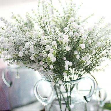 1 Afdeling Polyester Plastik Brudeslør Bordblomst Kunstige blomster