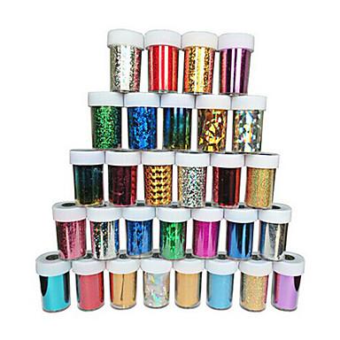 1PC 3D Nails Nagelaufkleber Nagel Kunst Maniküre Pediküre Glitzer / Klassisch / Glitter & Funkeln Alltag / 3D Nagel Sticker