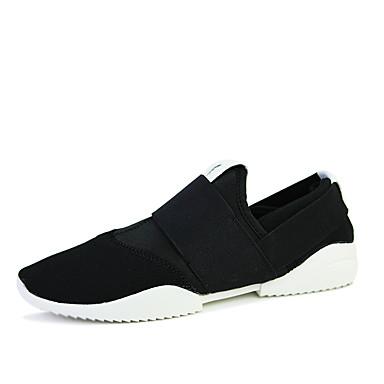 Herre-Tekstil-Flat hæl-Komfort-Treningssko-Friluft Fritid Sport-Blå Grå