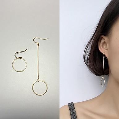 Damen Nicht übereinstimmend Tropfen-Ohrringe - Modisch Gold Für Hochzeit / Party / Alltag