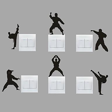 sport Wall Stickers Fly vægklistermærker Dekorative Mur Klistermærker / Klistermærker til kontakter,PVC Materiale Kan fjernes Hjem Dekor