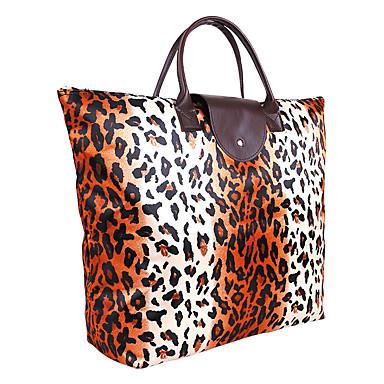 Unisex Tote Nylon Sort Blå Leopard