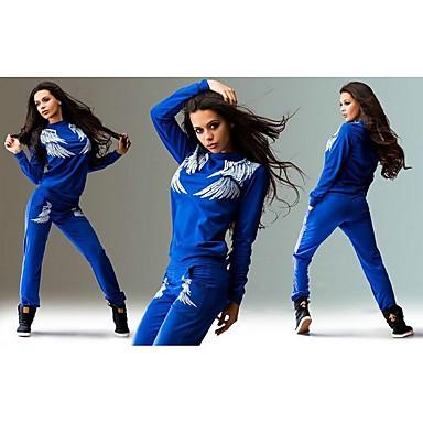 Mulheres Conjunto Camiseta e Calça de Corrida Manga Longa Respirável Conjuntos de Roupas para Exercício e Atividade Física Esportes