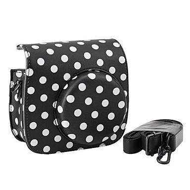 pu læder mini kamerataske til Fujifilm instax mini 8 med aftagelig skulderrem, sort
