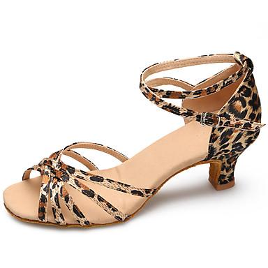 Aanpasbaar-Dames-Dance Schoenen(Luipaard) - metNaaldhak- enLatin / Modern