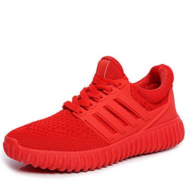 Dame-Tyll-Flat hæl-Komfort-Treningssko-Fritid-Svart Rød