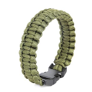 Herre Overlevelse Armbånd Sjal Armbånd - Personalisert Holdbar Line Formet Grønn Rosa Jegergrønn Armbånd Til Daglig Avslappet Sport