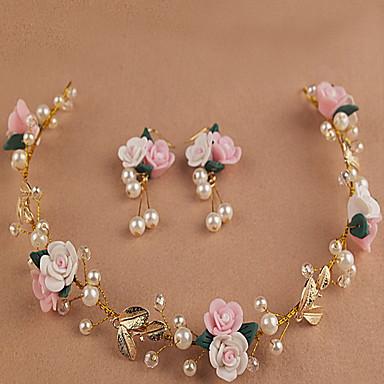 blad smukke rose blomst kranse pandebånd til dame bryllupsfest ferie hår smykker