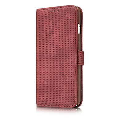 Capinha Para Apple iPhone X iPhone 8 iPhone 6 iPhone 6 Plus Porta-Cartão Carteira Other Capa Proteção Completa Côr Sólida Macia couro