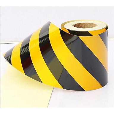 5cm sort og gul reflekterende folie supermarked isolation fastgjort farve tape reflekterende advarsel