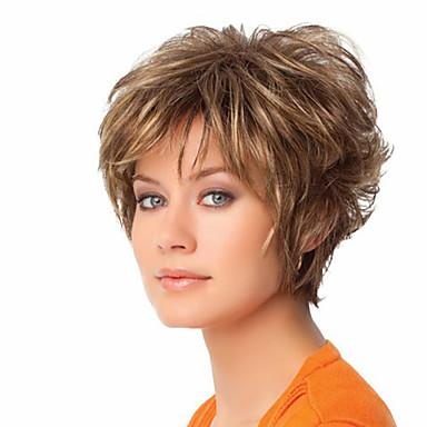 Kvinder Syntetiske parykker Lågløs Naturligt, bølget hår Blond Cosplay Paryk kostume Parykker