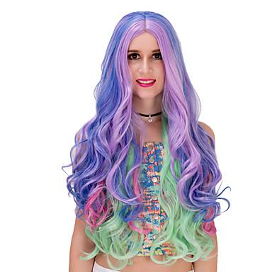 Synteettiset peruukit Naisten Suojuksettomat capless Peruukit Synteettiset hiukset