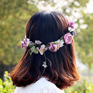 رخيصةأون مجوهرات الشعر-شريطة الشعر نسائي / للفتيات - وردة دانتيل / سبيكة, أنيق