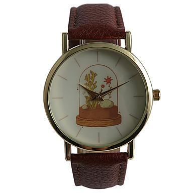 Heren Modieus horloge Kwarts Waterbestendig PU Band Vrijetijdsschoenen Bruin