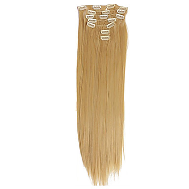 Clip In Human Hair Extensions Human Hair Straight 7Pcs/Pack 26 inch 28 inch