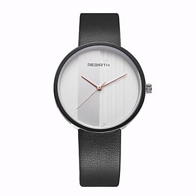 REBIRTH Homens Quartzo Único Criativo relógio Relógio de Pulso / Relógio Casual PU Banda Casual Minimalista Fashion Preta Branco