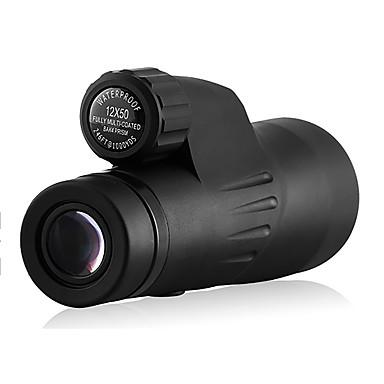 Eyeskey 12X50 mm 안경 고해상도 방수 저항하는 날씨 일반적인 하이 파워 지붕 프리즘 넓은 각도 나이트 비젼 사냥 탐조(들새 관찰) 밀리터리 일반적 사용 BAK4 전체 멀티 코팅 중심 초점