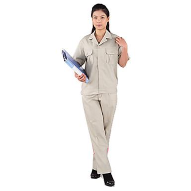 menn og kvinner hidden-interlocking kortermet klær flekken rresistant vedlikehold (utføre grå aprikos)