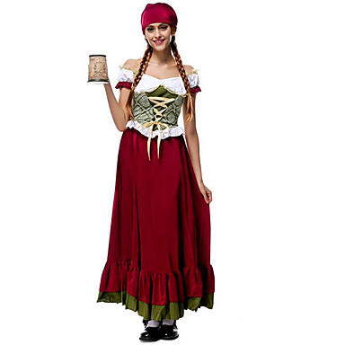 Oktoberfest Bavarian Cosplay Kostuums Feestkostuum Vrouwelijk Kerstmis Halloween Carnaval Nieuwjaar Festival / Feestdagen
