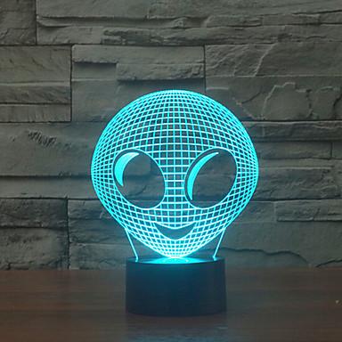 buitenaards tintje dimmen 3D LED 's nachts licht 7colorful decoratie sfeer lamp nieuwigheid verlichting kerstverlichting