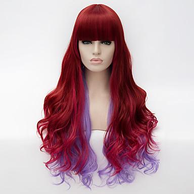 Synthetische Perücken Synthetische Haare Rot Perücke Damen Sehr lang Kappenlos Rot