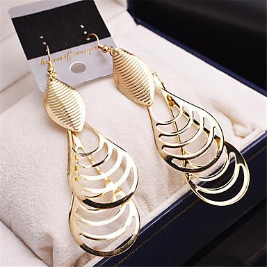 Pentru femei Fete Placat Auriu cercei Modă Bijuterii Auriu / Argintiu Pentru Nuntă Petrecere Casual