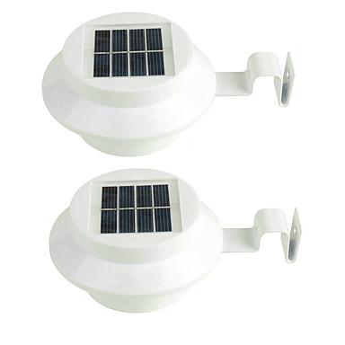 2stk 3led solens lys vann hage dekorasjon lyssensor solenergi panel lampe montert utendørs gjerde sti veggen