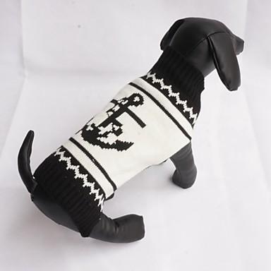 Kat / Hund Bluser Hundetøj Sømand Sort Bomuld Kostume For kæledyr Herre / Dame Afslappet / Hverdag / Mode