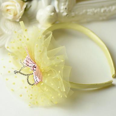 koreansk blomst pigens tiaras mesh slips stof pandebånd