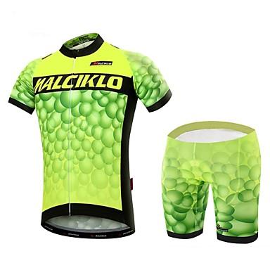 Malciklo Maillot de Ciclismo con Shorts Hombre Manga Corta Bicicleta Sets de Prendas Secado rápido Cremallera delantera Listo para vestir