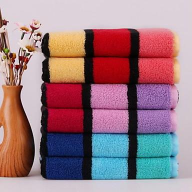Frisk stil Vaskehåndklæde, Garn Bleget Overlegen kvalitet 100% bomuld Strikket Jacquard Håndklæde
