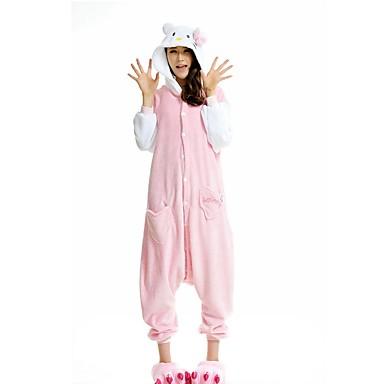 c3099857bddb Adults  Kigurumi Pajamas Cat Onesie Pajamas Polyester Pink Cosplay For Men  and Women Animal Sleepwear Cartoon Festival   Holiday Costumes 5156143 2019  – ...