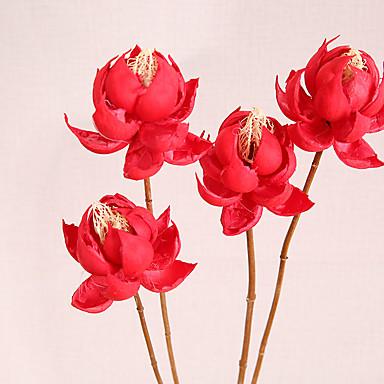 1 Ramo Outras Lótus Flor de Mesa Flores artificiais