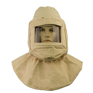 sikkerhedshjelm med sprængning cap lærred hætte maske sand sprængning hætter