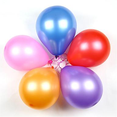 Мячи Воздушные шары Обучающая игрушка Жемчужное покрытие Толстые Надувной Классический Для вечеринок Силикон Латекс 100pcs Классика Дети