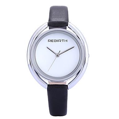 REBIRTH Mulheres Relógio de Pulso Venda imperdível / / PU Banda Casual / Fashion / Elegante Preta / Branco / Dois anos / Mitsubishi LR626