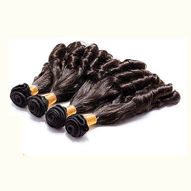 Człowieka splotów włosów Włosy brazylijskie Luźne fale 4 elementy sploty włosów