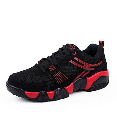 Masculino-TênisRasteiro-Preto Azul Vermelho-Tule-Para Esporte