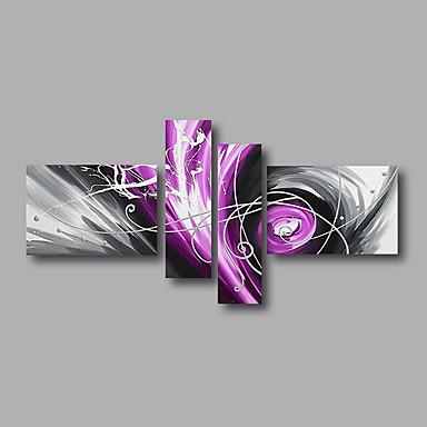 Handgeschilderde Abstract Olie schilderijen,Modern Vier panelen Canvas Hang-geschilderd olieverfschilderij For Huisdecoratie