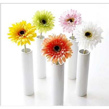 1 Ramo Seda Margaridas Flor de Mesa Flores artificiais