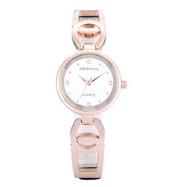 REBIRTH Mulheres Relógio de Pulso Relógio Casual / / Rosa Folheado a Ouro / PU Banda Casual / Fashion / Elegante Preta