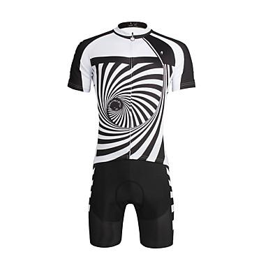 ILPALADINO Camisa com Shorts para Ciclismo Homens Unisexo Manga Curta Moto Conjuntos de Roupas Secagem Rápida Resistente Raios