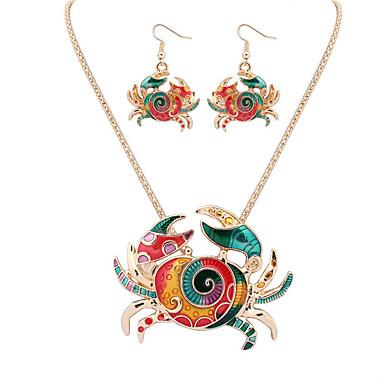 Mulheres Conjunto de jóias Brincos Colares - Vintage Fofo Festa Trabalho Casual Fashion Europeu Dourado Prata Conjunto de Jóias Colar /