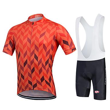 Fastcute Wielrenshirt met strakke shorts Heren Korte mouw Fietsen Fietsbroeken/Broekje Sweatshirt Shirt Wielrenbroek/Fietsbroek Met