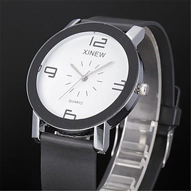 Herrn Armbanduhr Quartz Schwarz / Weiß Armbanduhren für den Alltag Analog Freizeit Modisch - Weiß Schwarz Ein Jahr Batterielebensdauer / SSUO 377