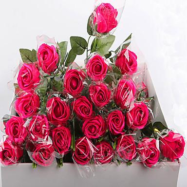 Flores artificiais 1pcs Ramo Estilo Moderno Rosas Flor de Mesa