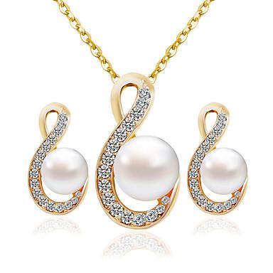 Pentru femei Set bijuterii Modă Include Seturi de bijuterii de mireasă Auriu Pentru Nuntă Petrecere